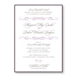 Romance 2-Layer Wedding Invitations