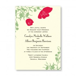 Romantic Petals Wedding Invitations