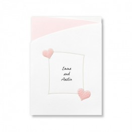 Romantic Hearts Wedding Invitations - LIMITED STOCK ON HAND