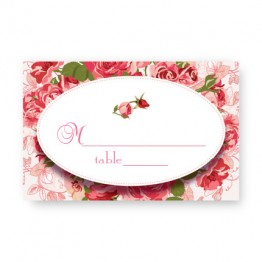 Rose Garden Seating Cards
