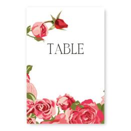 Rose Garden Table Cards