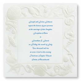 Sea of Love Wedding Invitations - LIMITED STOCK AVAILABLE