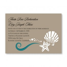 Seashell Love Wedding Invitations - LIMITED STOCK AVAILABLE