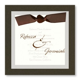 Sheer Classic Wedding Invitations
