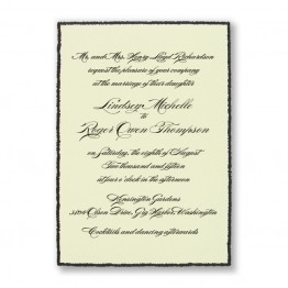 Shining Sophistication Wedding Invitations