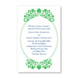 Silhouette Letterpress Wedding Invitations