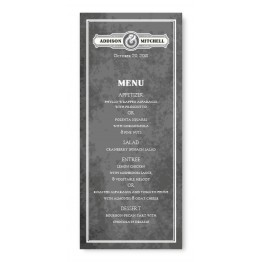 Slated Love Menu Cards
