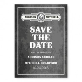 Slated Love Save The Date Cards