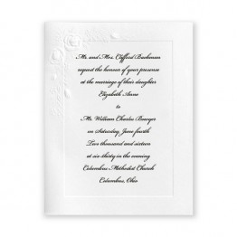 Small Embossed Roses Wedding Invitations - LIMITED STOCK ON HAND