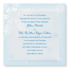 Snowy Bliss Wedding Invitations - LIMITED STOCK AVAILABLE