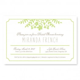Spring Flora Bridal Shower Invitations