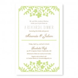 Spring Flora Rehearsal Dinner Invitations