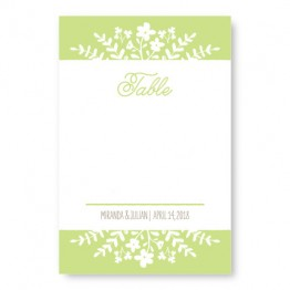 Spring Flora Table Cards