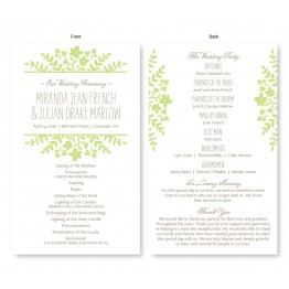 Spring Flora Wedding Program
