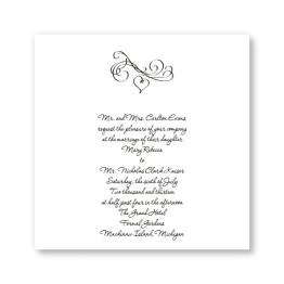 Square Marvelous Motif Wedding Invitations