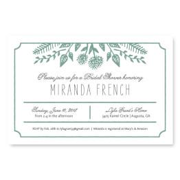 Summer Flora Bridal Shower Invitations