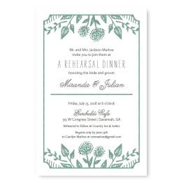 Summer Flora Rehearsal Dinner Invitations