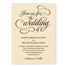 Sweet Script Wedding Invitations