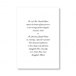 Traditional Love Wedding Invitations