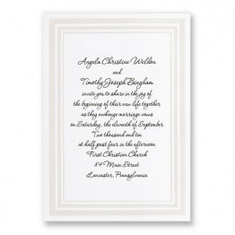 Triple Beveled Elegance Wedding Invitations