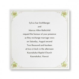 Tropical Flowers Wedding Invitations