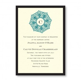 Initial Perfection Wedding Invitations