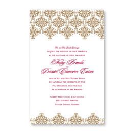 Promenade Letterpress Wedding Invitations