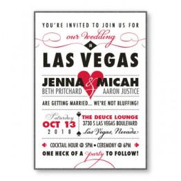Vegas 2-Layer Wedding Invitations