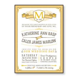 Vintage 2-Layer Wedding Invitations