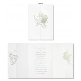 Whimsical Hearts Wedding Invitations