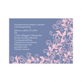 Flowering Vines Wedding Invitations