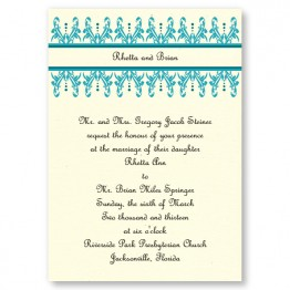 Wrought Iron Wedding Invitations