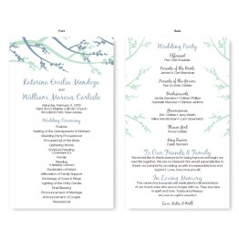 Winter Berry Wedding Program