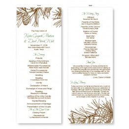 Pine Wedding Program