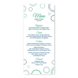 Circles and Dots Menu Cards