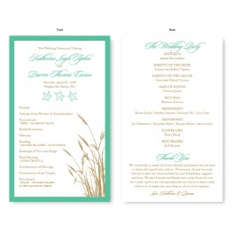 Classic Coastal Wedding Program