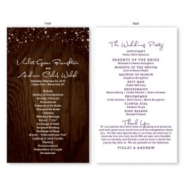 Cozy Cabin Wedding Program