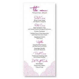 Scallop Menu Cards