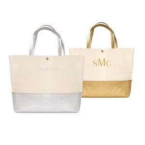 Metallic Dipped Totes