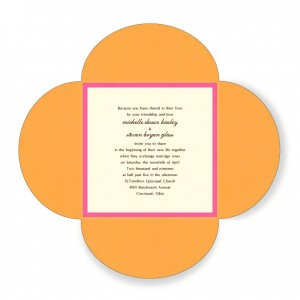 5 x 5 Wedding Bloom Wedding Invitations