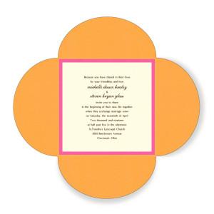5 x 5 Wedding Bloom Wedding Invitations