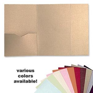 5 x 7 Gate Folio Pocket, Various Colors