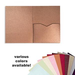 5 x 7 Single Folio Pocket, Various Colors