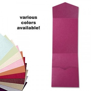 5 x 7 V-Flap Folio Pocket, Various Colors