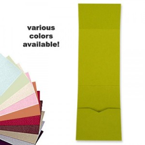 5 x 7 Vertical Folio Pocket, Various Colors