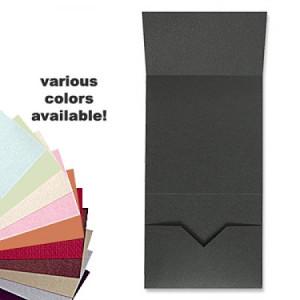6 x 6 Vertical Folio Pocket, Various Colors
