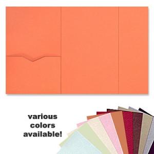 6 x 9 Gate Folio Pocket, Various Colors