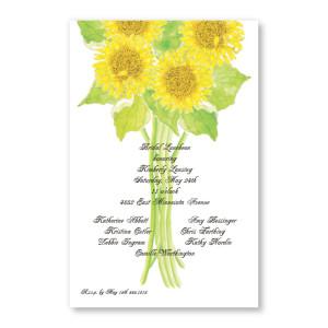 Sunflowers Invitations
