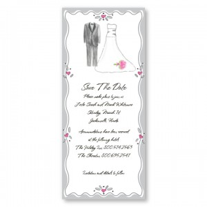 Slim Bride and Groom Save the Date