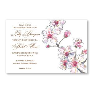Spring Cherry Invitations